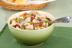 Chicken Vegetable Soup Stock Photos