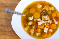 Chicken and vegetable soup Stock Photography