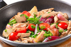 Chicken vegetable stir fry Royalty Free Stock Image