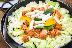 Chicken vegetable stir-fry Royalty Free Stock Images