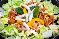 Chicken vegetable stir-fry Stock Photography