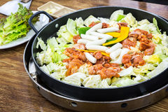 Chicken vegetable stir-fry Stock Photos