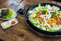 Chicken vegetable stir-fry Royalty Free Stock Image