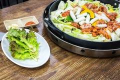 Chicken vegetable stir-fry Stock Image