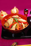 Chicken and vegetable stir fry Royalty Free Stock Images
