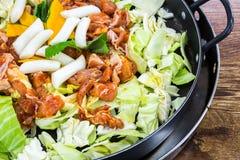 Chicken vegetable stir-fry Royalty Free Stock Photos