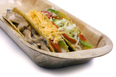 Chicken and vegetable tacos Royalty Free Stock Photography