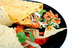 Chicken And Vegetable Wraps Royalty Free Stock Images