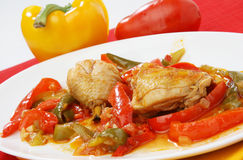 Chicken with vegetables Royalty Free Stock Photo