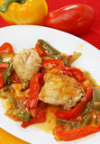 Chicken with vegetables Royalty Free Stock Photos