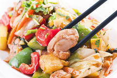 Chicken with vegetables Stock Photography