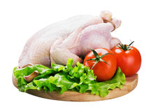 Chicken with vegetables Royalty Free Stock Images