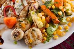 Chicken Vegetables stock photo