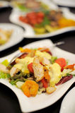 Chicken with Vegetables Stock Photos
