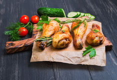 Chicken with vegetables Stock Images