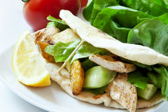 Chicken and Vegetables Kebab Stock Photos