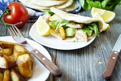 Chicken and Vegetables Kebab Royalty Free Stock Images