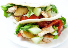 Chicken and Vegetables Kebab Stock Image
