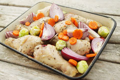 Chicken and vegetables Stock Image