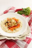 Chicken with vegetables and rice Royalty Free Stock Photo