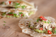 Chicken and vegetables tortilla Royalty Free Stock Images