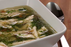 Chicken and veggies soup Royalty Free Stock Photo
