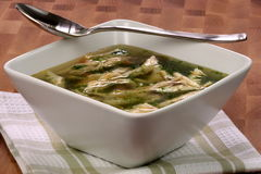 Chicken and veggies soup Stock Photo