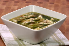 Chicken and veggies soup Royalty Free Stock Images