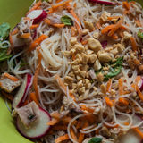 Chicken Vermicelli Bowl. With Nuoc Cham and Herbs, probably one of the easiest items to make so far, and delicious Royalty Free Stock Images