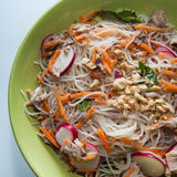 Chicken Vermicelli Bowl Royalty Free Stock Photos