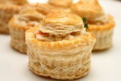 Chicken vol-au-vent. On a plate Royalty Free Stock Photo