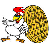 Chicken and Waffle Mascot. Vector illustration of a Chicken and Waffle Mascot Stock Images