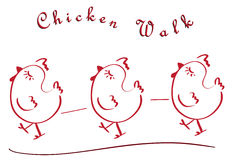 Chicken walk Royalty Free Stock Photos