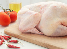 Chicken whole raw Stock Photography