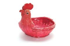 Chicken Wickerwork Basket Royalty Free Stock Image