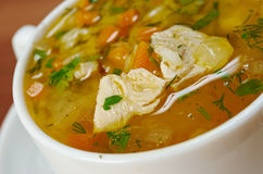 Chicken and wild rice soup Stock Photography