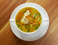 Chicken and wild rice soup Royalty Free Stock Photo