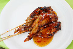 Chicken wing. S with souce delicious fast food Royalty Free Stock Image