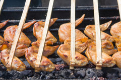 Chicken wing barbecue Royalty Free Stock Photos