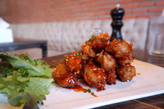 Chicken wing with Barbecue sauce Royalty Free Stock Images