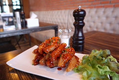Chicken wing with Barbecue sauce Royalty Free Stock Photos