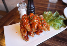 Chicken wing with Barbecue sauce Stock Photo