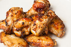Chicken wing grill royalty free stock images