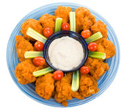 Chicken Wing Platter with Path Stock Images