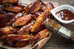 Chicken wing with sauce Royalty Free Stock Images