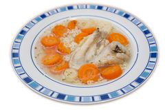 Chicken wing soup. The chicken wing soup in plate Royalty Free Stock Images