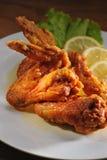 Chicken Wings. Golden Brown Lemon Chicken Wings Stock Photo