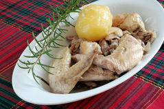 Chicken wings. Cooked and serve on the table Royalty Free Stock Photo