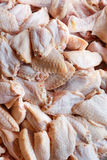 Chicken Wings. Closeup raw chicken wings at market Stock Image