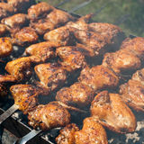 Chicken Wings At Outdoors Grill Stock Photo